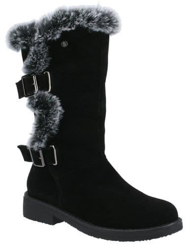 Hush Puppies Megan Ladies Mid Boot Black